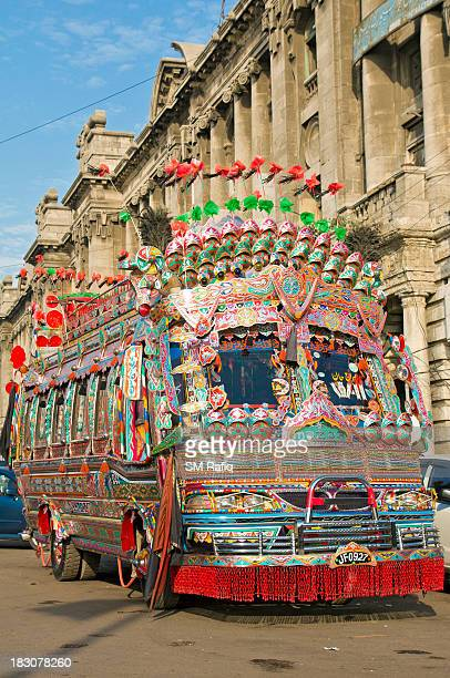 The view of extensiveness of Truck art that is stretched to these coaches.