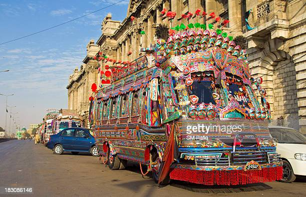 The view of extensiveness of Truck art that is stretched to these coaches. These decorated and colorful coaches are generally used on wedding...