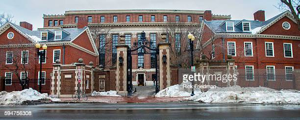 The view of Harvard University in Cambridge, MA. USA on February 19, 2013.
