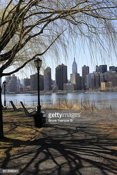 The view of Manhattan and East River