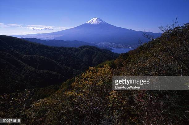 the view of mt.fuji from misaka pass - shizuoka stock pictures, royalty-free photos & images