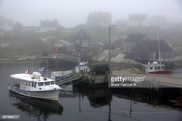 the view of peggy's cove - flag of nova scotia stock pictures, royalty-free photos & images