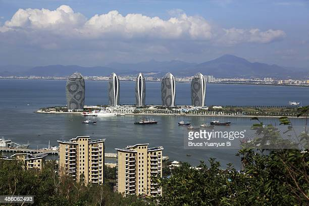 the view of phoenix island - sanya stock pictures, royalty-free photos & images