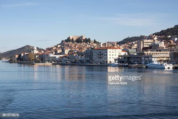 The view of Sibenik Port, Croatia
