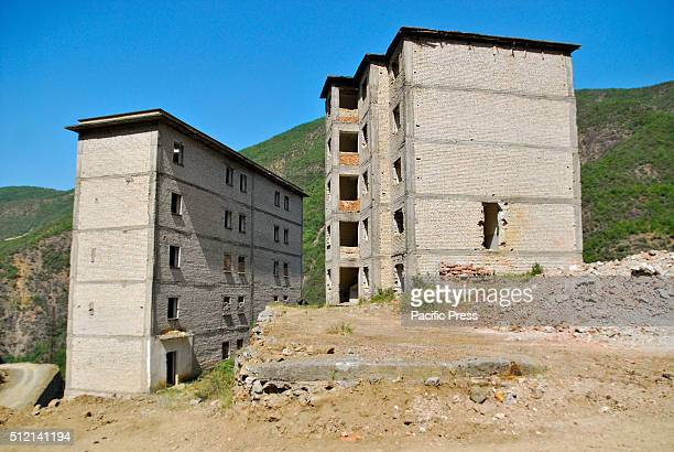 The view of Spac Prison and forced labor camp inspired by Soviet gulag in communist Albania. Thousands of people were imprisoned here and many of...