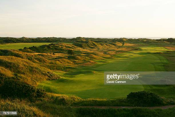 The view of the 13th green at Royal Birkdale Golf Club venue for the 2008 Open Championship on October 9 2007 in Southport England
