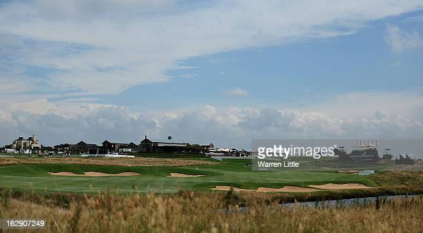The view of the 18th fairway during the second round of the Tshwane Open at Copperleaf Golf Country Estate on March 1 2013 in Centurion South Africa