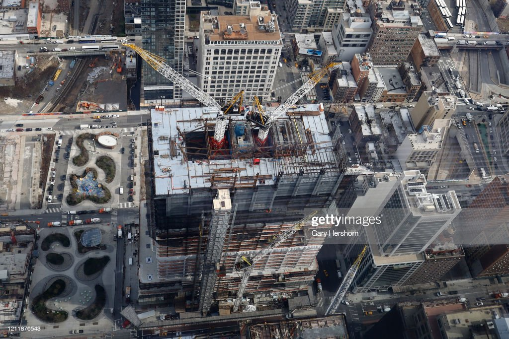 Views From the Edge NYC Observation Deck at Hudson Yards in New York City : News Photo