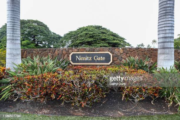 The view of the Nimitz Gate sign at the entrance to Joint Base Pearl HarborHickam on December 4 2019 in Honolulu United States Early reports say a...