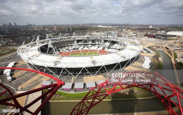 The view of the Olympic Stadium which hosted the track and field events during the London Olympic Paralympic Games viewed from Arcelor Mittal Orbit...
