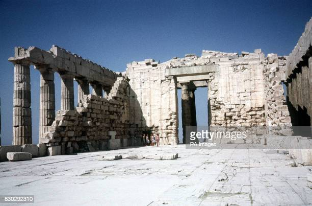 ON THE ACROPOLIS THE TEMPLE WAS CONSTRUCTED DURING THE PERICLEAN GOLDEN AGE OF ATHENS IN THE 5TH CENTURY BC AND SURVIVED ALMOST INTACT UNTIL THE 17TH...
