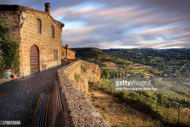 the view of umbria in italy - orvieto stock pictures, royalty-free photos & images