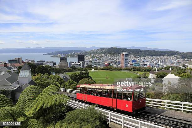 The view of Wellington Cable Car