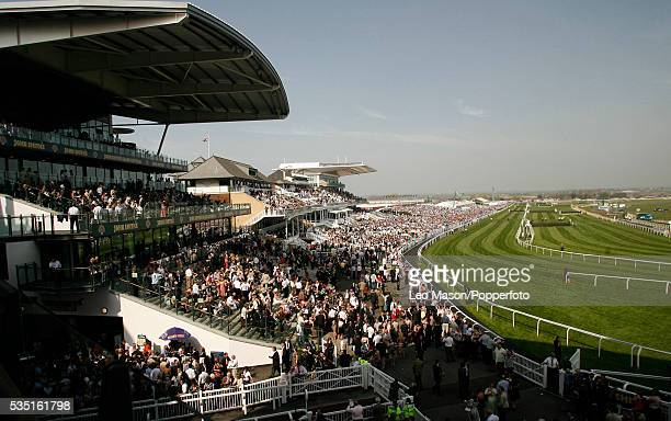 The view on Grand National Day from the new Lord Sefton stand during the 2007 John Smithss Grand National Meeting at Aintree Race course in Liverpool...