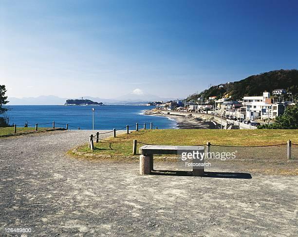The View, Pan Focus from Inamuragasaki Park, Shonan, Kanagawa Prefecture, Japan, Front View, Pan Focus