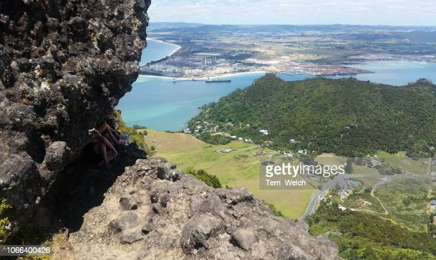 the view - whangarei heads stock-fotos und bilder