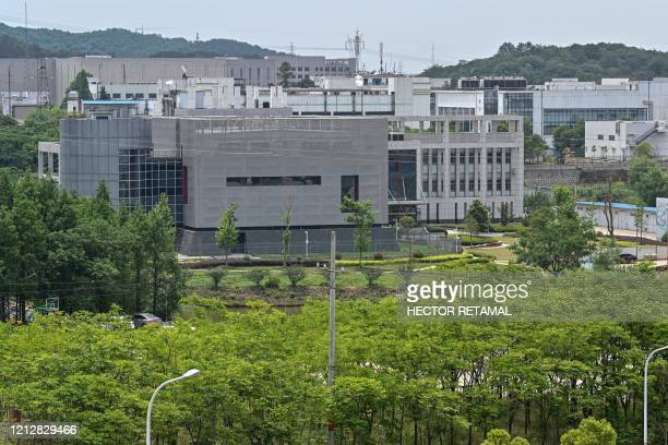 The view shows the P4 laboratory building at the Wuhan Institute of Virology in Wuhan in China's central Hubei province on May 13, 2020. - Opened in...