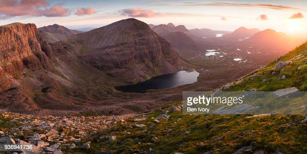 the view to beinn eighe - wester ross stock pictures, royalty-free photos & images