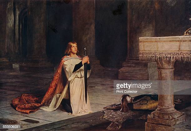 The Vigil, c1884. The Vigil of Arms was one of the religious exercises, which in the Middle Ages preceded the conferment of knighthood. The artist...