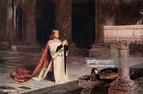 The Vigil Painting By John Pettie A Squire Performs His Vigil Before Receiving His Knighthood The Following Day From The World's Greatest Paintings...