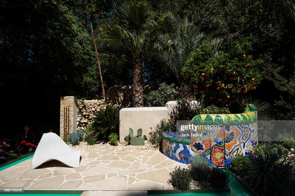 The 'Viking Cruises Garden of Inspiration' on display at the Chelsea Flower Show on May 22, 2017 in London, England. The prestigious Chelsea Flower Show, held annually since 1913 in the Royal Hospital Chelsea grounds, is open to the public from the 23rd to the 27th of May, 2017.