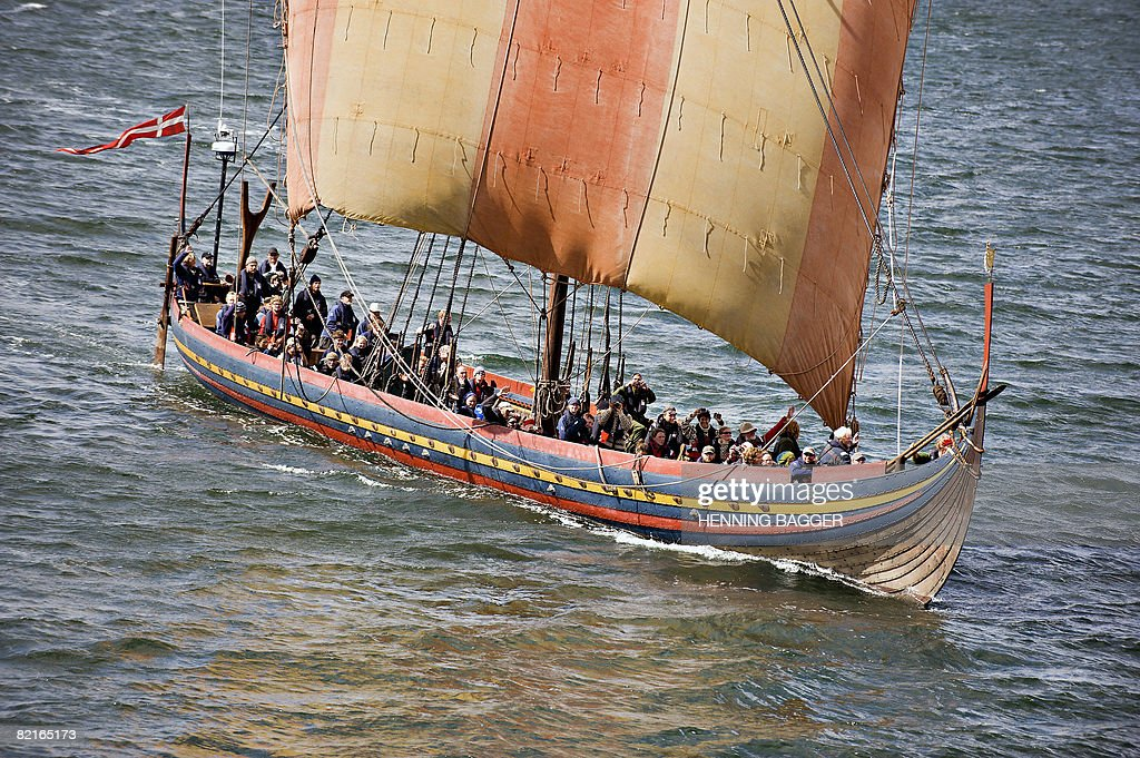 The viking longship Sea Stallion of Glen : News Photo