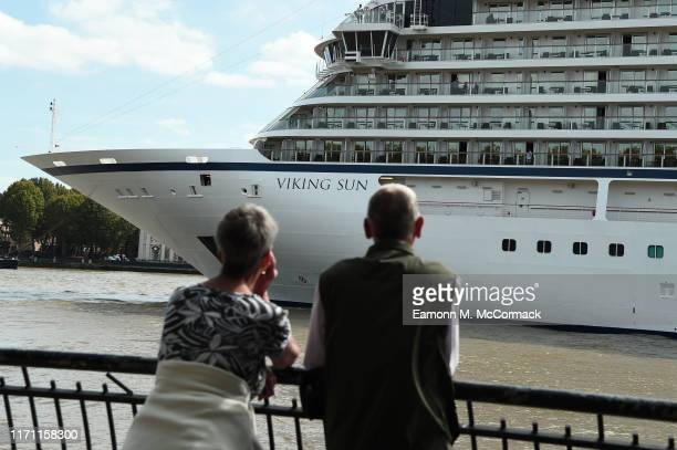 The Viking Sun begins a Guinness World Record attempt at the longest world cruise from Greenwich Pier on 30 August in Greenwich London The cruise...