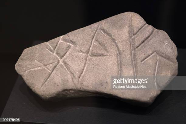 The Viking's objects Whetstone with rune carving The Vikings were Norse people who raided and traded across wide areas eastern and western Europe...