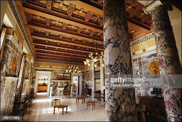 The Villa Kerylos An Hymn To Ancient Greece On March 1 2004 In BeaulieuSurMer France The ConstantineStyled Marble Decorations Of The Large Andron´...