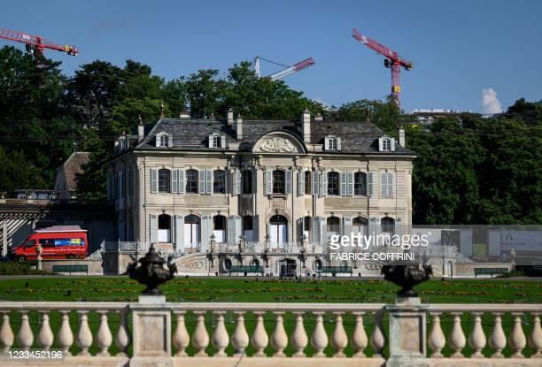 "The ""Villa La Grange"" is seen on June 14, 2021 in Geneva, ahead of the June 16 summit between Russian leader Vladimir Putin and US President Joe..."