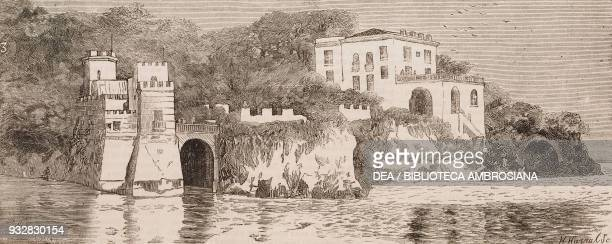 The Villa Maraval residence of the ladies of the exKhedive of Egypt's family Naples Italy illustration from the magazine The Graphic volume XX no 511...