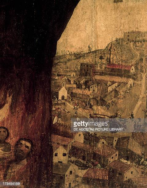 The village at the time of the plague Church of St Martin Sanluri Sardinia Detail Italy 16th century