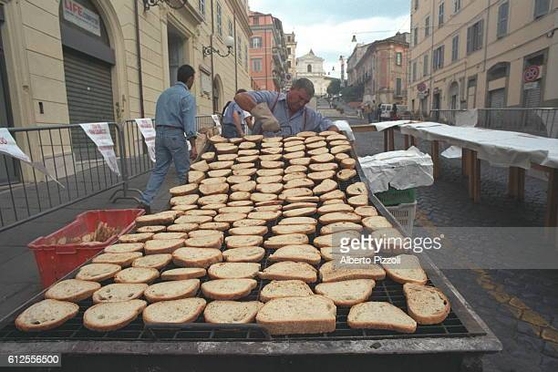 The village bakes its own special bread which is honored every year by a festival.