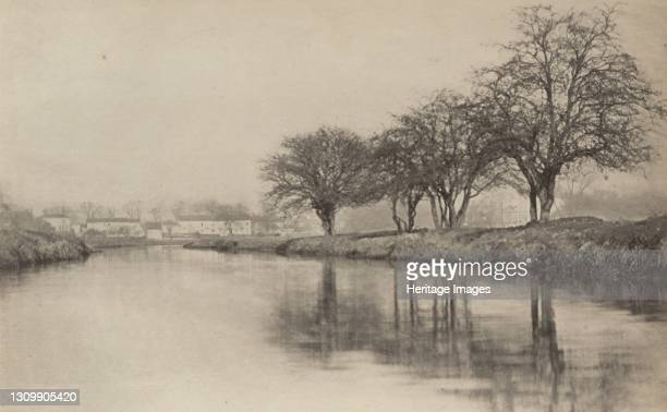 The Village by the River, 1890-1891, printed 1893. Artist Dr Peter Henry Emerson. .