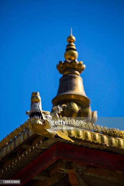 The village Chimi Lhakhang in the Punakha Valley with its temple monastery is renowned for its fertility blessings phallus or penis symbols where...