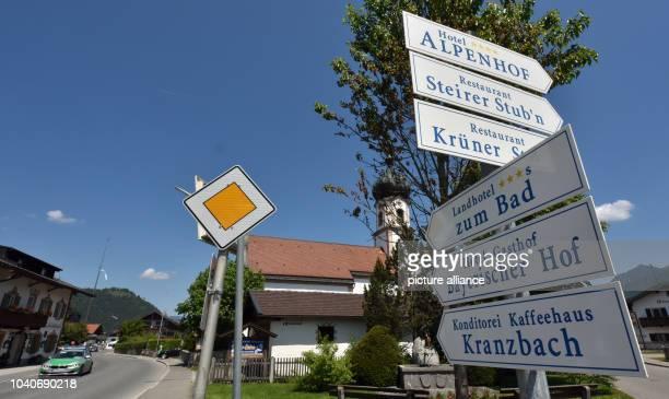 The village church in Kruen, Germany, 04 June 2015. German Chancellor Angela Merkel and USPresident Obama arrive for a visit to Kruen On 07 June...