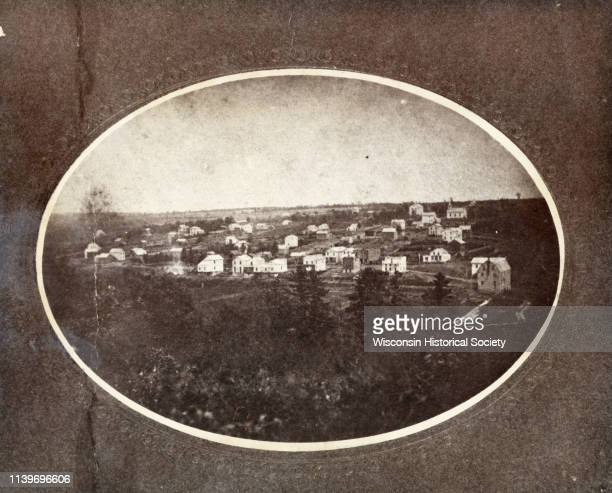 The village founded by Delos W Taft had its name changed to Bloomington in 1867 Bloomington Wisconsin 1864 It had been named Tafton