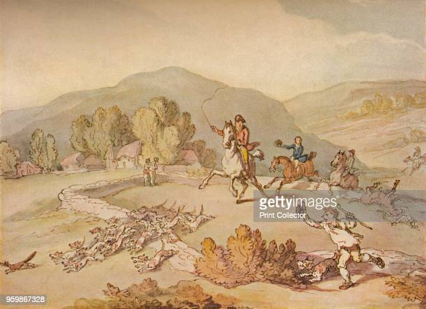 The Village Hunt' circa 1800 From British Sporting Artists From Barlow to Herring by Walter Shaw Sparrow [John Lane The Bodley Head Limited London...