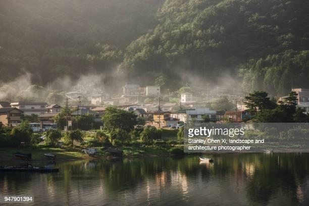 The village in Lake Kawaguchi
