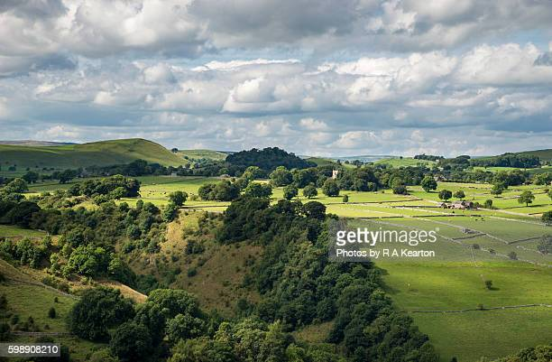 The village of Alstonefield, Staffordshire, England