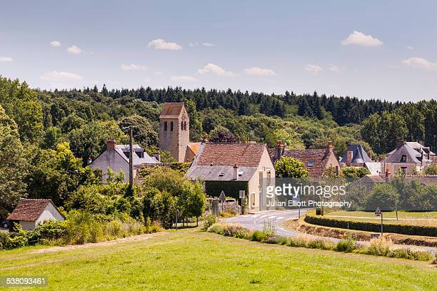the village of asnieres-sur-vegre - sarthe stock pictures, royalty-free photos & images