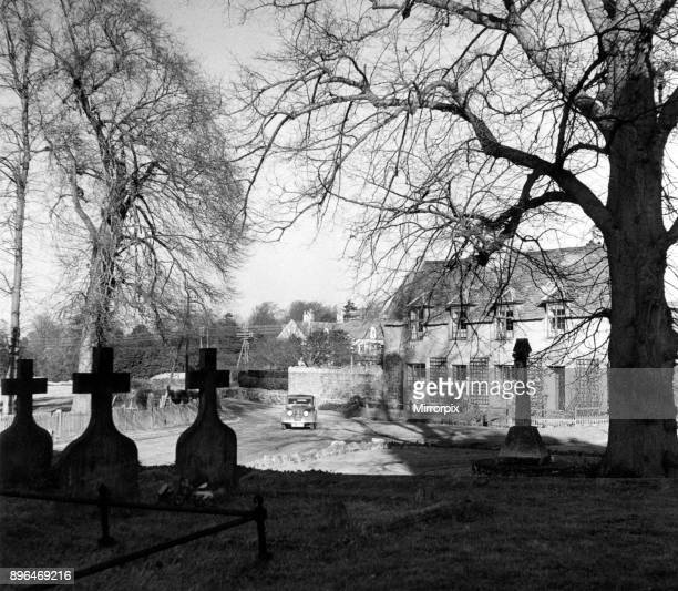 The village of Barton Seagrave Northants from the churchyard of the Early Norman Church of St Botolph the register of which dates from 1609 To the...