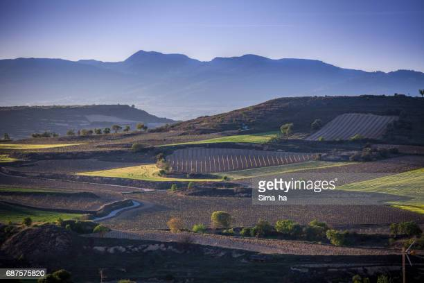 The village of Briones and fields. La Rioja, Spain
