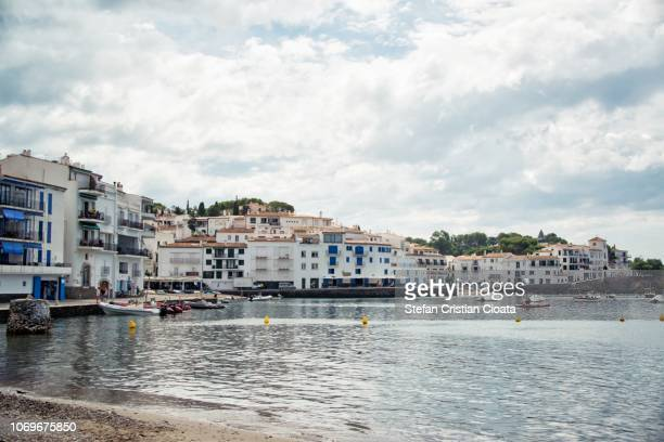 the village of cadaques, catalonia, spain - cadaques stock pictures, royalty-free photos & images