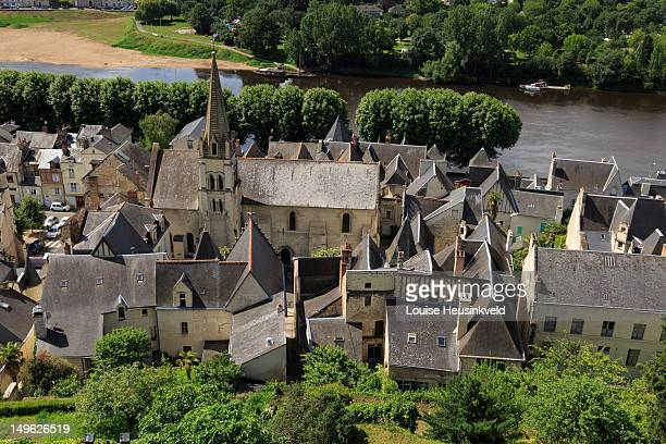 The village of Chinon from above