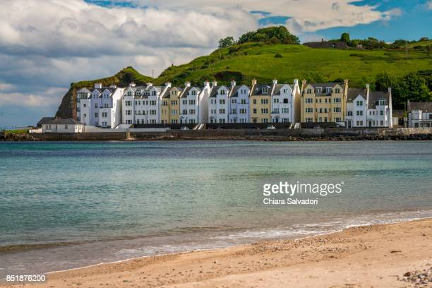 the village of cushendun - county antrim stock pictures, royalty-free photos & images