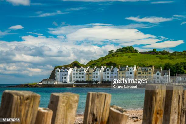 the village of cushendun - belfast stock pictures, royalty-free photos & images