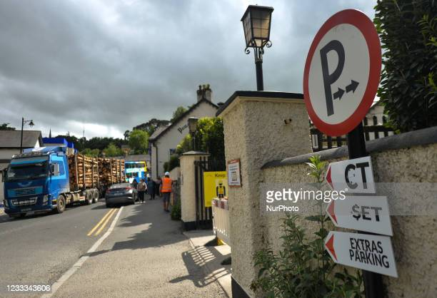 The village of Enniskerry in County Wicklow is undergoing a huge transformation. A huge movie set is being made for the movie 'Disenchanted' as a...