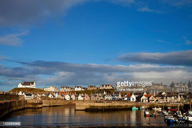 The village of Findochty, Scotland,