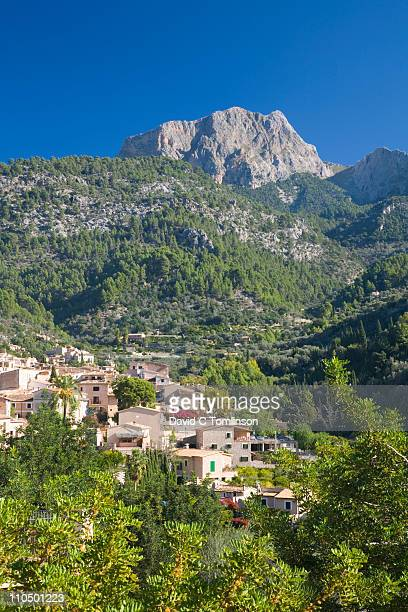 The village of Fornalutx and Puig Major, Mallorca